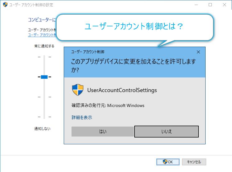 ユーザーアカウント制御(UAC)とは